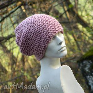 pastel pink - na prawo * czapka, różowa, ciepła, zimowa, twarzowa, dziergana