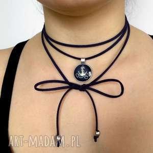 kotwica - choker - marynarski, naszyjnik, symbol