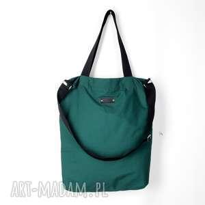 Prezent Shopperka Gaja pojemna butelkowa zieleń, shoperka, torebka,
