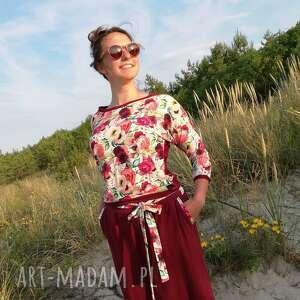 bluzy bluza damska - rajski ogród, w kwiaty, bluzka kwiatki