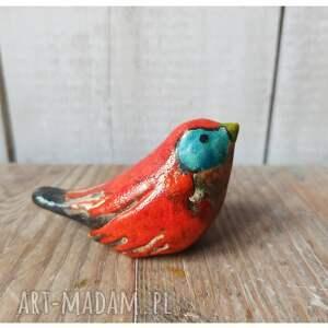 ceramika czerwony ptaszek, ceramika, ptak, lasy w butelkach