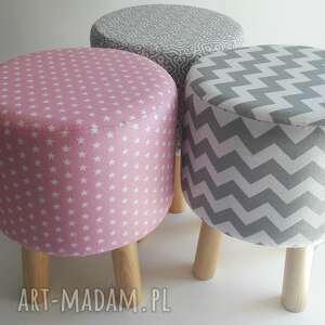 Pufa Różowe Gwiazdki, pufa, taboret, stołek, siedzisko, ryczka