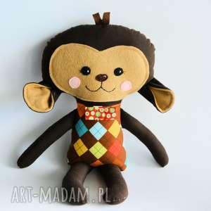 Małpka tomek 45 cm maskotki motylarnia małpka, chłopczyk