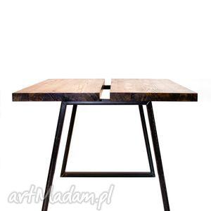 ręcznie zrobione stoły stół mopene industrialny minimalistyczny do jadalni