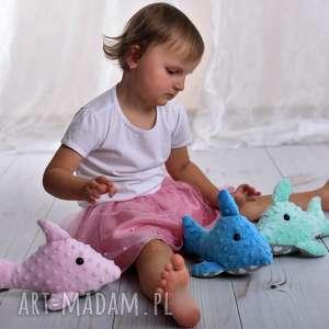 przytulanka dziecięca delfin 3 kolory - przytulanka delfin, poduszka minky, dekoracja