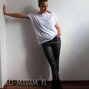 bluzki bluzka zwiewna oversize biała, bluzka, zwiewna, ovesize, top