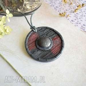 handmade naszyjniki wisior tarcza wikinga