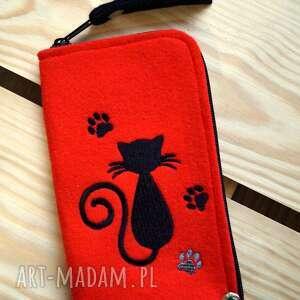 etui filcowe na telefon - kotek, smartfon, pokrowiec, futerał, kotki