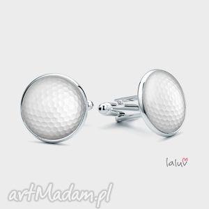 spinki do mankietów piłka golfowa, dołek, golf sport kije, pole, prezent