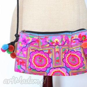 Prezent orientalna torba, orient, haft, prezent, boho, pompony