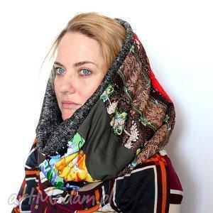 komin handmade patchworkowy , komin, patchwork, wiosna, etno, boho