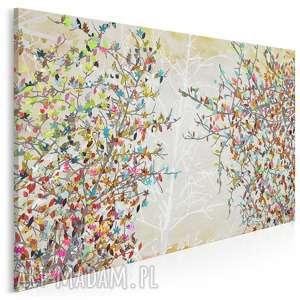 obraz na płótnie - drzewa liście 120x80 cm 23001, drzewa, liście, kolory