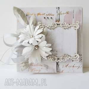 hand-made scrapbooking kartki ślubna elegancja - w pudełku