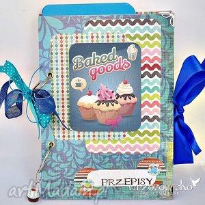 Baked goods - przepiśnik z przekładkami scrapbooking notesy