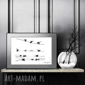 grafika 104, z ptakami, naturą, dekoracja do sypialni