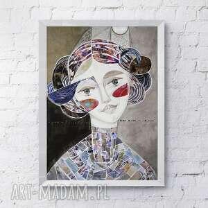 święta, plakat 50x70 cm - leia, plakat, wydruk, księżniczka, twarz