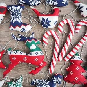 hand made prezent na święta dekoracje choinkę zestaw 20 sztuk
