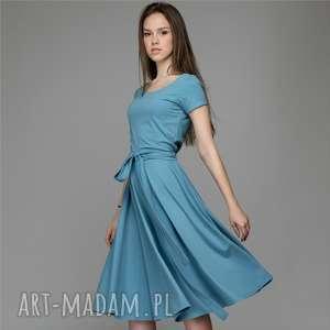 WHEEL LIGHT | sukienka z dzianiny bawełnianej, sukienka, dzianina, bawełna