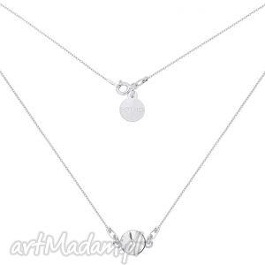 naszyjniki srebrny naszyjnik z bezbarwnym kryształem swarovski crystal