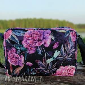 single bag - piwonie, elegancka, nowoczesna, peonie, kwiaty, prezent