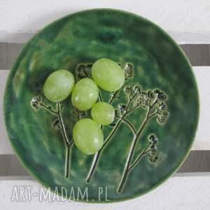 ceramika zielony roślinny talerzyk, ceramiczny, na biżuterię