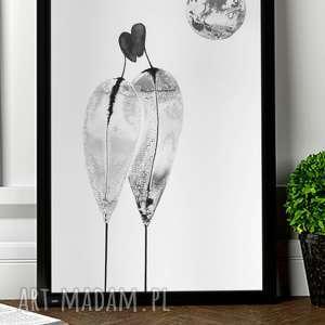 zestaw dwóch grafik czarno-białych, plakat 30x40, abstrakcja minimalizm, obrazy
