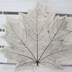 patera ceramiczna liść, ceramiczna, patera, talerzyk, ekologiczny dom