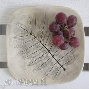 talerzyk roślinny - ,ceramiczna,podstawka,fusetka,roślinna,ceramika,