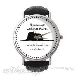 Mały Książę - Skórzany zegarek z dużą tarczą, mały, książę, zegarek, cytatem,