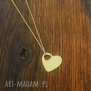 Naszyjnik serce, love, walentynki, celebrytka, łańcuszek, modny