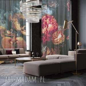 dekoracje komplet bawełnianych zasłon chick, zasłony, vintage, kwiaty, dekoracja