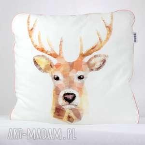 Poduszka Jeleń Beż 46x46, poduszka, dekoracyjna, pościel, jeleń, dziecko, minky