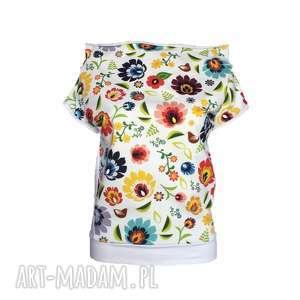 bluzki folkowa letnia bluzka biała lub ecru, folkowa-bluzka, folk