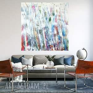 nowoczesny obraz do salonu 100x100, abstrakcyjny, nowoczesne malarstwo