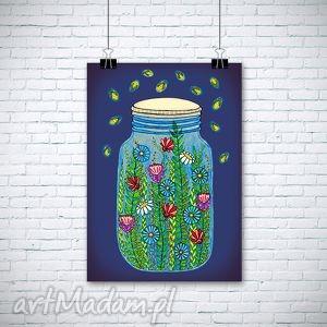 Świetliki a3 malgorzata domanska słoik, świetliki, kwiaty,
