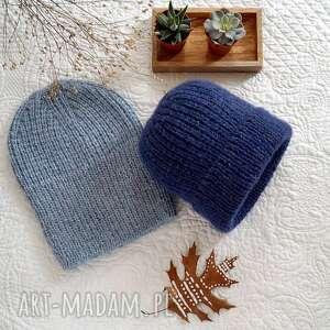 czapka wełniana z moherem i jedwabiem, czapka, wywijana, prezent