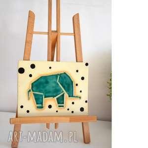 hand-made ceramika słoń ceramiczny