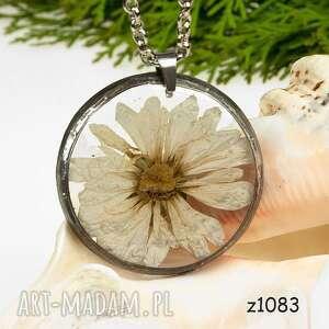 naszyjniki z1083 naszyjnik z suszonymi kwiatami herbarium