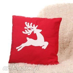 godeco poszewka na poduszkę z jelonkiem, poszewka, poduszka, jelonek, renifer, salon