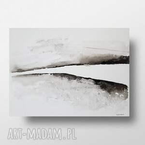 pejzaż abstrakcyjny - praca wykonana tuszem