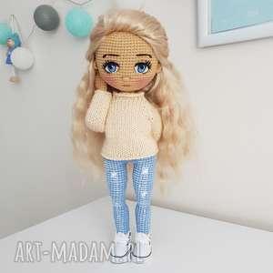 Prezent lalka kolekcjonerska na szydełku, salon, pokój-dziecka, dekoracja