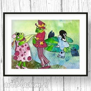 Baśń... ilustracja dla dziewczynki, obrazek, bajka, plakat, ilustracja, dziecko