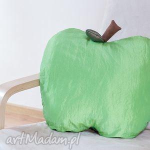 poduszka zielone jabłuszko, poduszka, tafta, jabłko, dekoracja, prezent, ozdoba dom