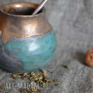 ceramika turkusowe matero, yerba, kamionka, mate, orientalne