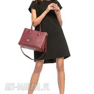 sukienki sukienka z kontrafałdą na plecach, t261, czarna, sukienka, prosta