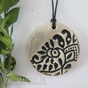 etniczny wisiorek, wisior, ceramiczny, indyjski, etno, ceramiki, wyjątkowy prezent