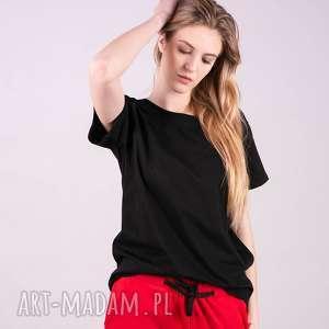 t-shirt damski klasyczny czarny, t shirt, bluzka, kurtka, bluza, spodnie
