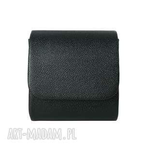 Mini kopertówka koperta MANZANA klasyczna czarna, torebka, torba, damska,
