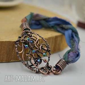 bohemian blue - bransoletka z tęczowym hematytem, boho