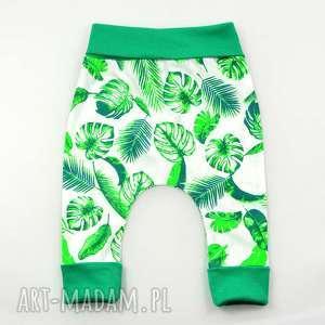 LIŚCIE spodnie bawełniane, baggy chłopięce, pumpy niemowlęce, rozmiar 56-98, bawełna